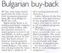 <b>Bulgarian Buy-Back<b>