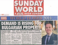 Appreciating Assests in Ireland's best-selling newspaper The Sunday World