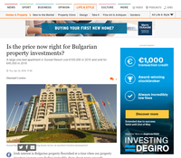 Appreciating Assets in Irish Times - Is the price now right for Bulgarian property investments?
